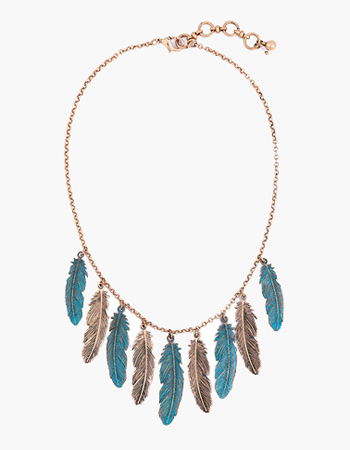 Painted Feather Necklace