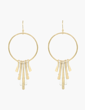 Hoop Paddle Earrings