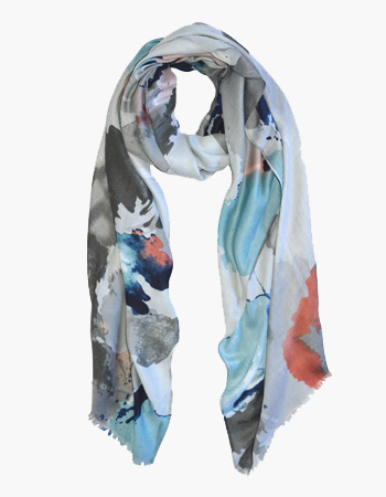 Abstract Paint Print Scarf